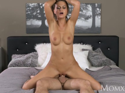 MOM Big natural tits milf expertly drains cock dry with her tight pussy