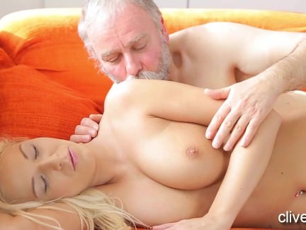 Young Blonde Amateur Fucking Old Guy