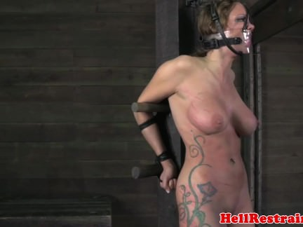 Bigtitted bdsm sub punished roughly